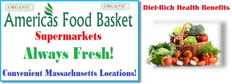 America's Food Basket Supermarkets   Massachusetts Locations   Why is it important to eat vegetables?   Nutrient Benefits   Diet-Rich Health benefits   Whole Grains   Organic Food   Vegan Food Recipes   Vegetarian Recipes   Few Things You Should Always Buy at America's Food Basket   Shoppers love America's Food Basket Supermarkets   Rotisserie Chicken For The Win   Organic Options   Your Family's Health First   Cold Meats   Baked Goods   Produce   Freshness and Reliability   International Foods   Massachusetts locations International Foods   Cheers to Great Taste, Health, and savings!   [WEBSITE ]