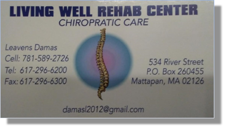 Living Well Chiropractic Care | 534 River St. Mattapan, MA | Tel: 617.296.6200